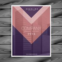 purple pink arrow style business brochure design template