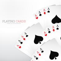 uppsättning spela casino kort på vit bakgrund