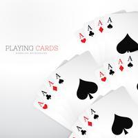 conjunto de jogar cartas de cassino no fundo branco