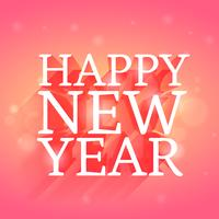 happy new year design in beautiful pink background
