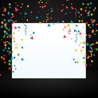 confetti with white display board