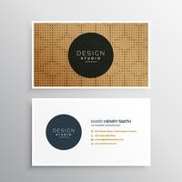 business card with halftone pattern