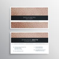 corporate business card template layour with brown abstract swir