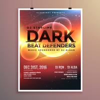 abstract party flyer template with event date