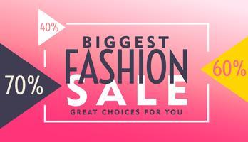diseño de cupón rosa para la venta de moda