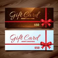 two seasonal gift card