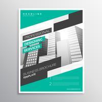 Plantilla de folleto de negocio creativo moderno en tamaño a4