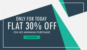 abstract style creative sale voucher design template