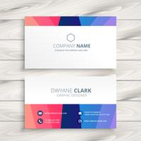 abstract colorful business card vector design illustration