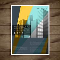 Moderno diseño de folleto de empresa en estilo multicolor.
