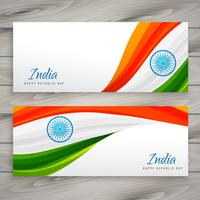 indische Flagge Fahnenkarte Vektor Design Illustration