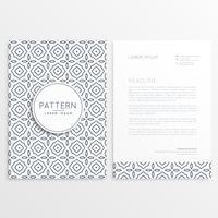 Plantilla de folleto de empresa con formas de patrón