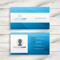blue visit card template vector design illustration