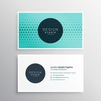 elegant business card template with triangle pattern