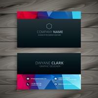 dark colorful business card template vector design illustration