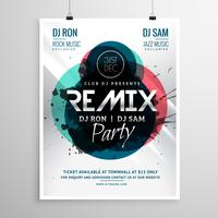 remix club partij flyer poster sjabloon