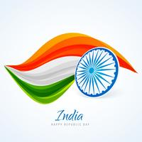 drapeau indien dessin abstrait vector design illustration