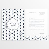 clean letterhead design with abstract pattern