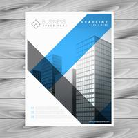 abstract business brochure flyer with buildings