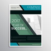 Resumen plantilla de folleto de folleto de negocio de empresa de color oscuro