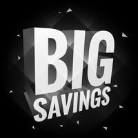 gran cartel de ahorro en la oscuridad
