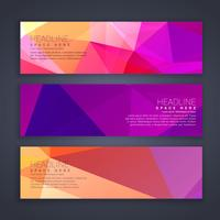 abstract broght colors web banners set