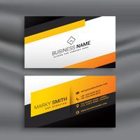 modern yellow and black business card design