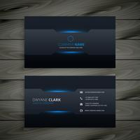 dark business card  template vector design illustration