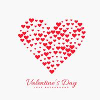 valentines day red hearts background vector design illustration