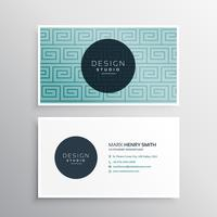 modern business card template with blue pattern