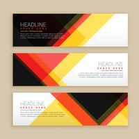 abstract set of banners template