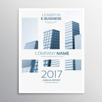 design de modelo de folheto de negócios de capa de revista limpa com buldi