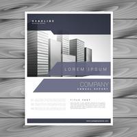 design de vetor de modelo de design de brochura empresarial moderno
