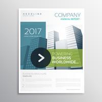 Plantilla de diseño de vector de empresa folleto en estilo limpio moderno