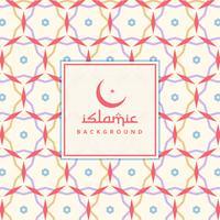 Islamitisch patroon achtergrondontwerp