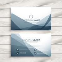 clean abstract business card template vector design illustration