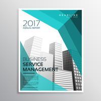 Plantilla de folleto de negocio de estilo abstracto con formas azules y bu