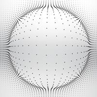 esfera de malha feita com pontos circulares vector design ilustração