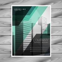 geometric company brochure vector design template