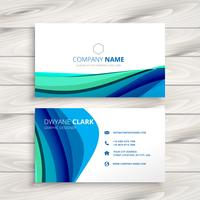 business card made with abstract wave vector design illustration