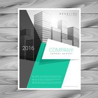 design de modelo de design de brochura de negócios elegante mínimo