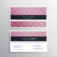 modern purple business card with crossed lines