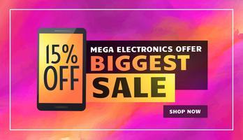 Största elektronikförsäljning banner affisch flyer mall