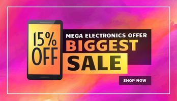 biggest electronics sale banner poster flyer template