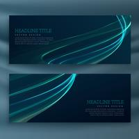 set of dark wave banners template