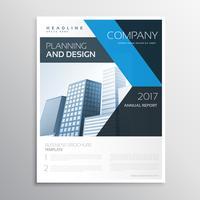 företagsbranschens företagsbroschyr eller broschyrmall med blått