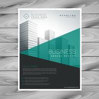 flyer brochure moderne turquoise avec des formes géométriques