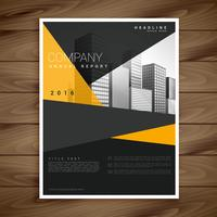 yellow and black modern brochure flyer design