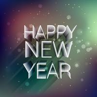 Frohes neues Jahr in 3d