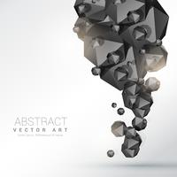 abstrakter schwarzer Polyederteilchenhintergrund